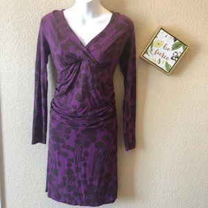 Boden dress US 4 purple long sleeve